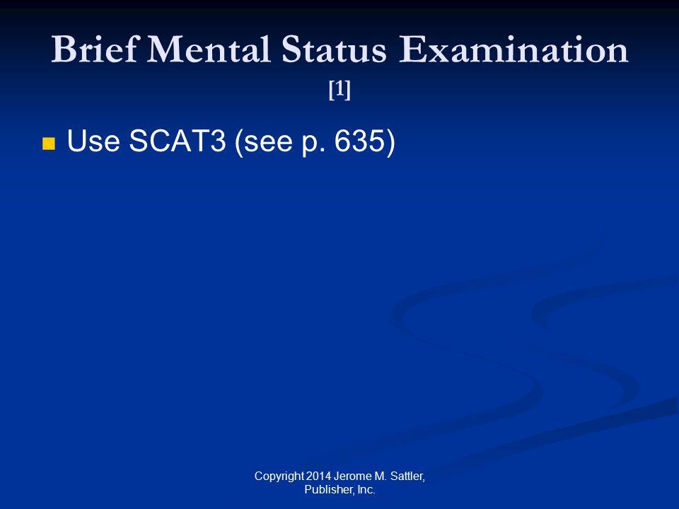 Brief Mental Status Examination [1]